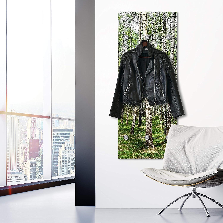 Garderobenhaken Kleiderablage Garderobenst/änder Urban Look Garderobenpaneel Gr/ö/ße:50x125 cm Flurgarderobe Kleiderst/änder Cuadros Lifestyle Designer-Garderobe Wandgarderobe