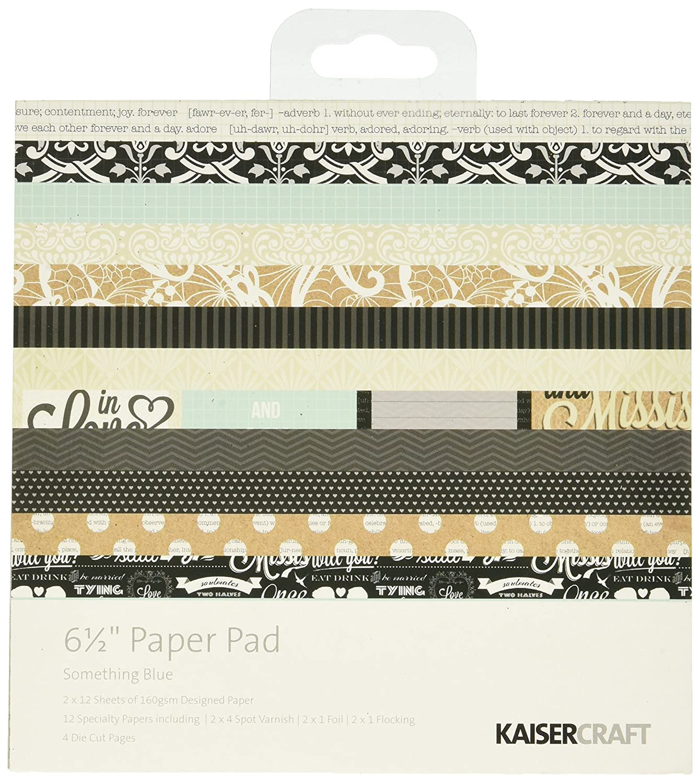Kaisercraft Paper Paper Pad 6,5 cm x 6,5 cm 40 kg, colore blu PP939