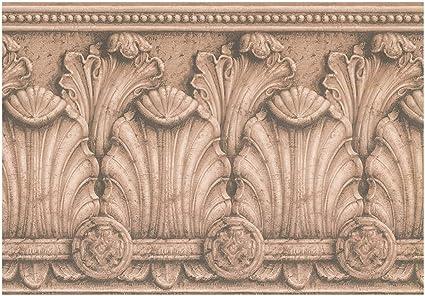 Prepasted Wallpaper Border Victorian Baroque Sepia Wall