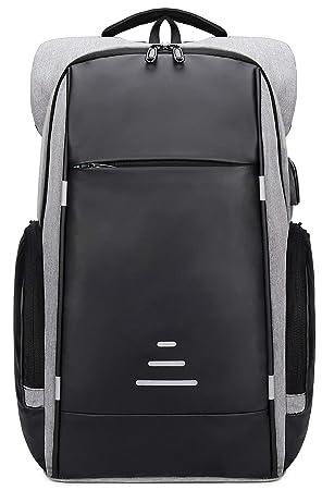 Netchain Mochila para Portátil Backpack Laptop mochila Antirrobo con USB Charging Port Negocio Mochila de Viaje Portátil 15.6 Pulgadas Gris: Amazon.es: ...