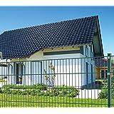 Koll Living 50 m Einstabmattenzaun, Höhe 75 cm, RAL 6005, komplett mit Pfosten - Gartenzaun Metallzaun Zaun Zaunanlage