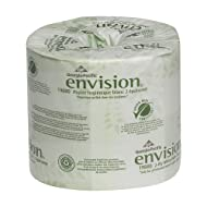 """Georgia-Pacific Envision 19880/01 2-Ply Embossed Bathroom Tissue, 4.05"""" L x 4"""" W, White, 4 Rolls Pack"""