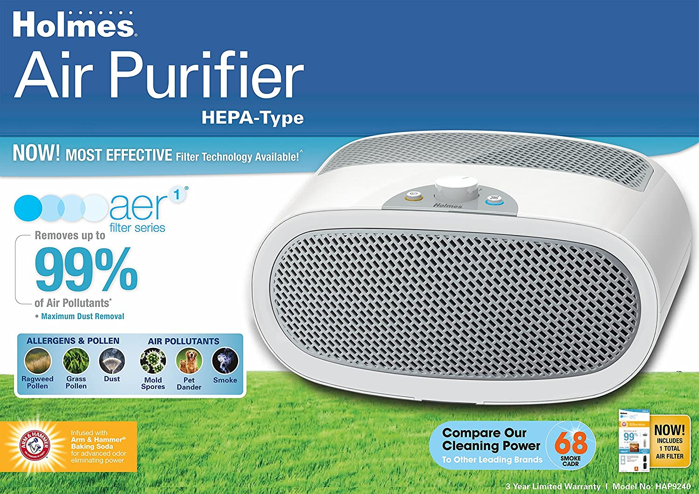 holmesr hap706 nu allergen remover air purifier mini tower a