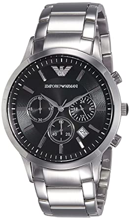 39e9fde87bc2 Amazon.com  Emporio Armani Men s AR2434 Dress Silver Watch  Emporio ...