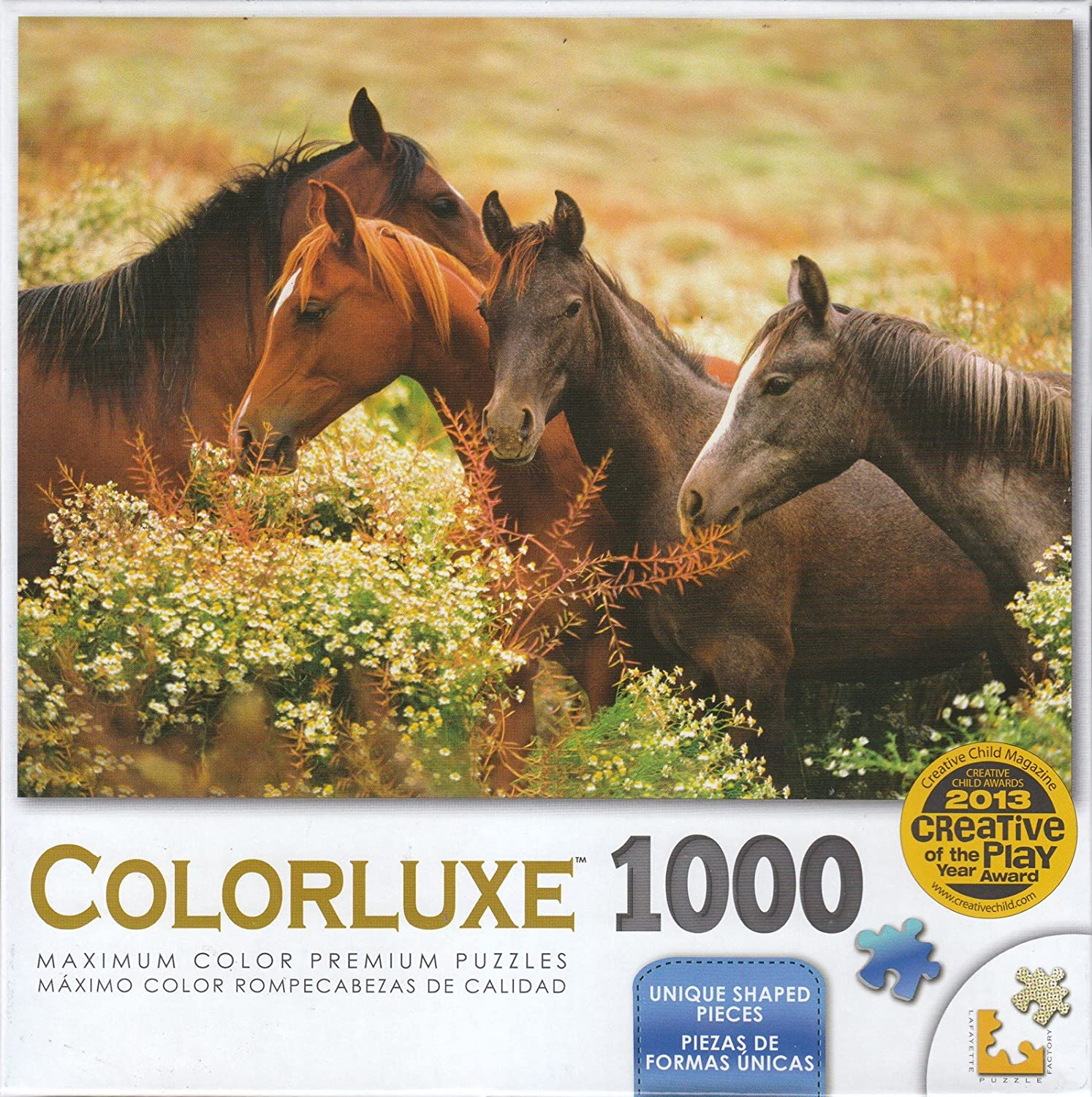 Colorluxe 1000 Piece Puzzle Arabian Colts In The Meadow Lpf