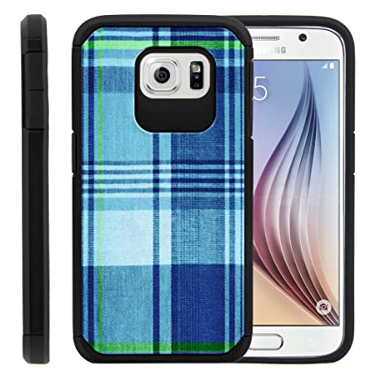 Amazon.com: Galaxy S6 Carcasa, Captivate Hybrid Slim Fusion ...