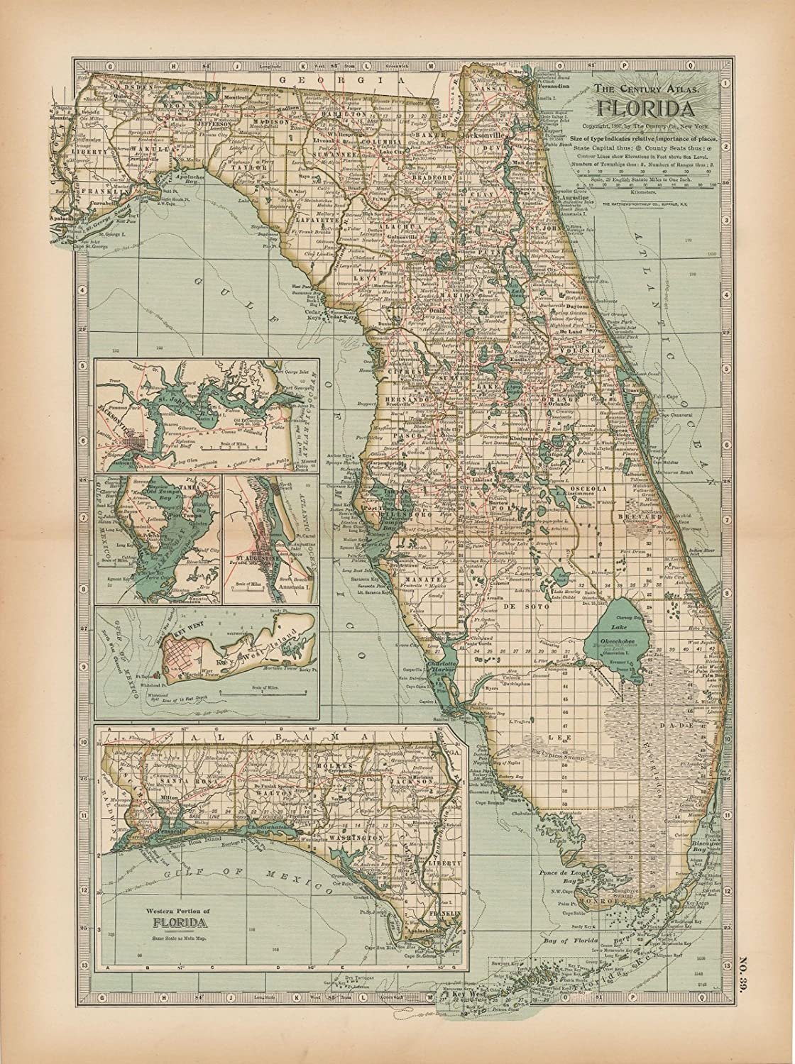 rare map oversize map print fine reproduction 1896 large map fine art print Old map of the Bahamas
