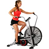 Sunny Health & Fitness SF-B2706 Exercise Fan Bike Bluetooth with Custom Workout Tornado Air