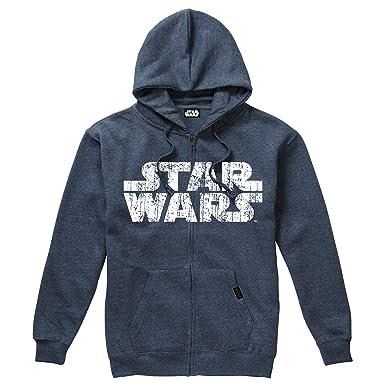 STAR WARS Rebel Logo & Text, Sudadera con Capucha para Hombre: Amazon.es: Ropa y accesorios