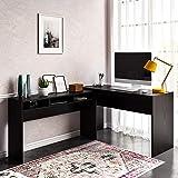 Ameriwood Home Larkin 2 in 1 L Desk, Espresso