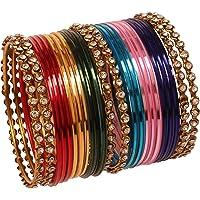 """Touchstone """"Kleurrijke collectie Indiase Bollywood legering enkele lijn duidelijk Rhinestone en getextureerde kleur…"""