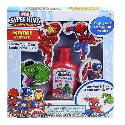 Marvel Super Hero Bathtime Play Set: Toys & Games