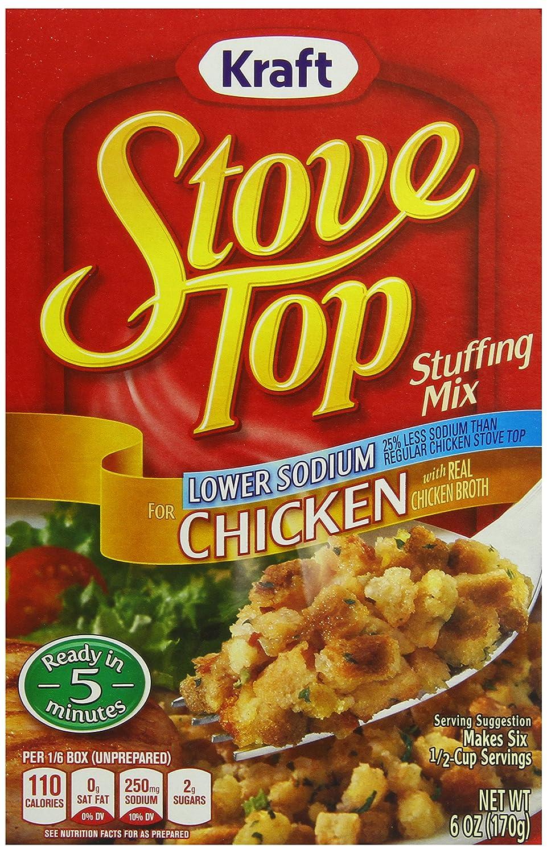 Amazon.com : Stove Top Stuffing Mix, Chicken, Low Sodium, 6 oz ...