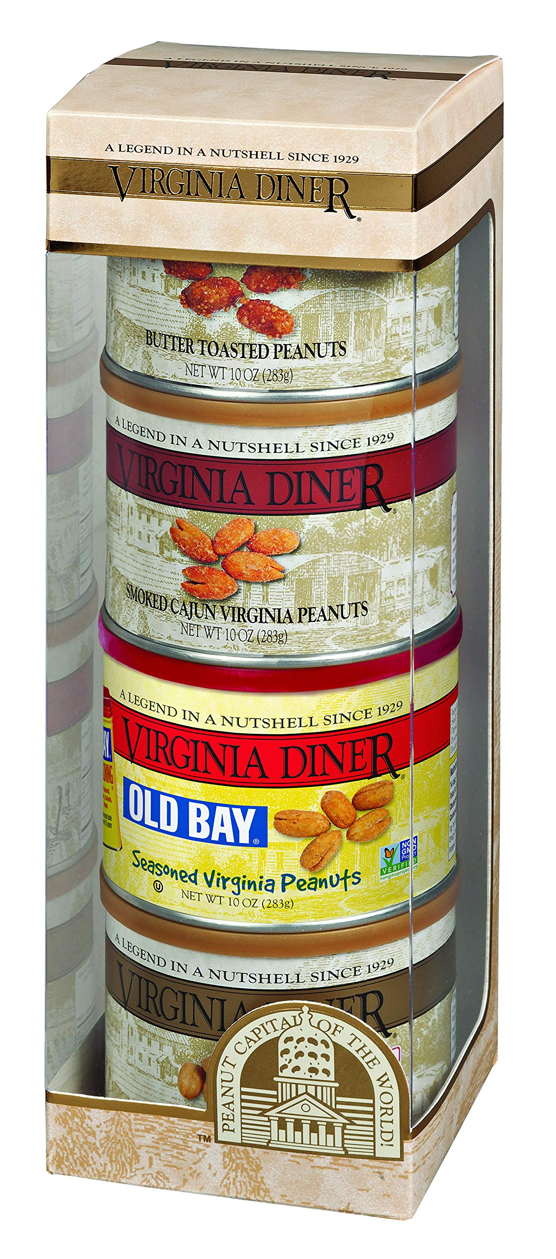 Virginia Diner Tower of Traditions, Set of Four, 10-Ounce Tins by Virginia Diner
