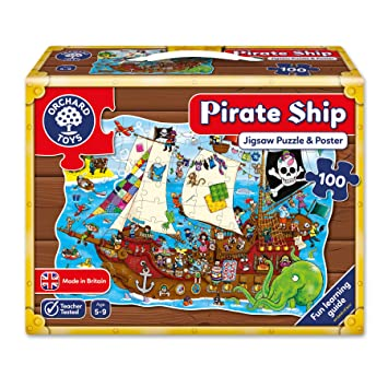 Orchard toys pirate ship jigsaw puzzle amazon toys games orchard toys pirate ship jigsaw puzzle gumiabroncs Image collections