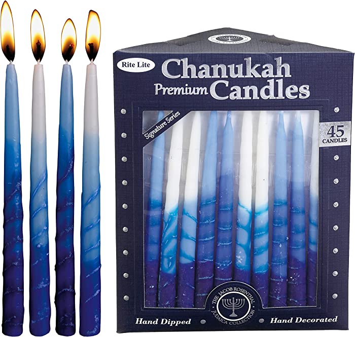 Rite Lite C-31-BWN2 Premium Chanukah Candles, 1 EA, Blue and White