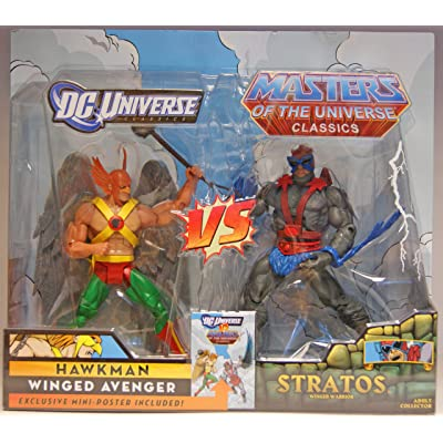 DC Universe Masters of the Universe Classics Exclusive Action Figure 2Pack Hawkman vs. Stratos: Toys & Games
