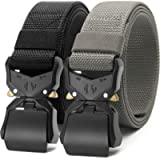 Chaoren 2 Pack Mens Quick Release Tactical Belt 1.5', Casual Military Riggers Web Belts for Men, Heavy Duty Cobra Work…