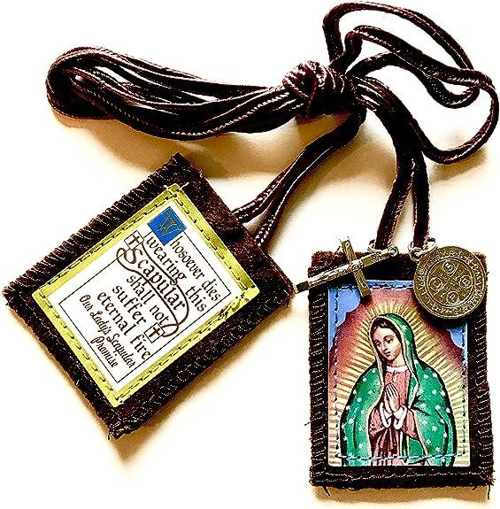 Escapularios Catolicos La Virgen De Guadalupe - Brown Scapulars ...