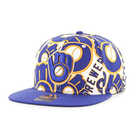 338ff5dead643 Amazon.com    47 MLB Milwaukee Brewers Bravado Captain Adjustable ...