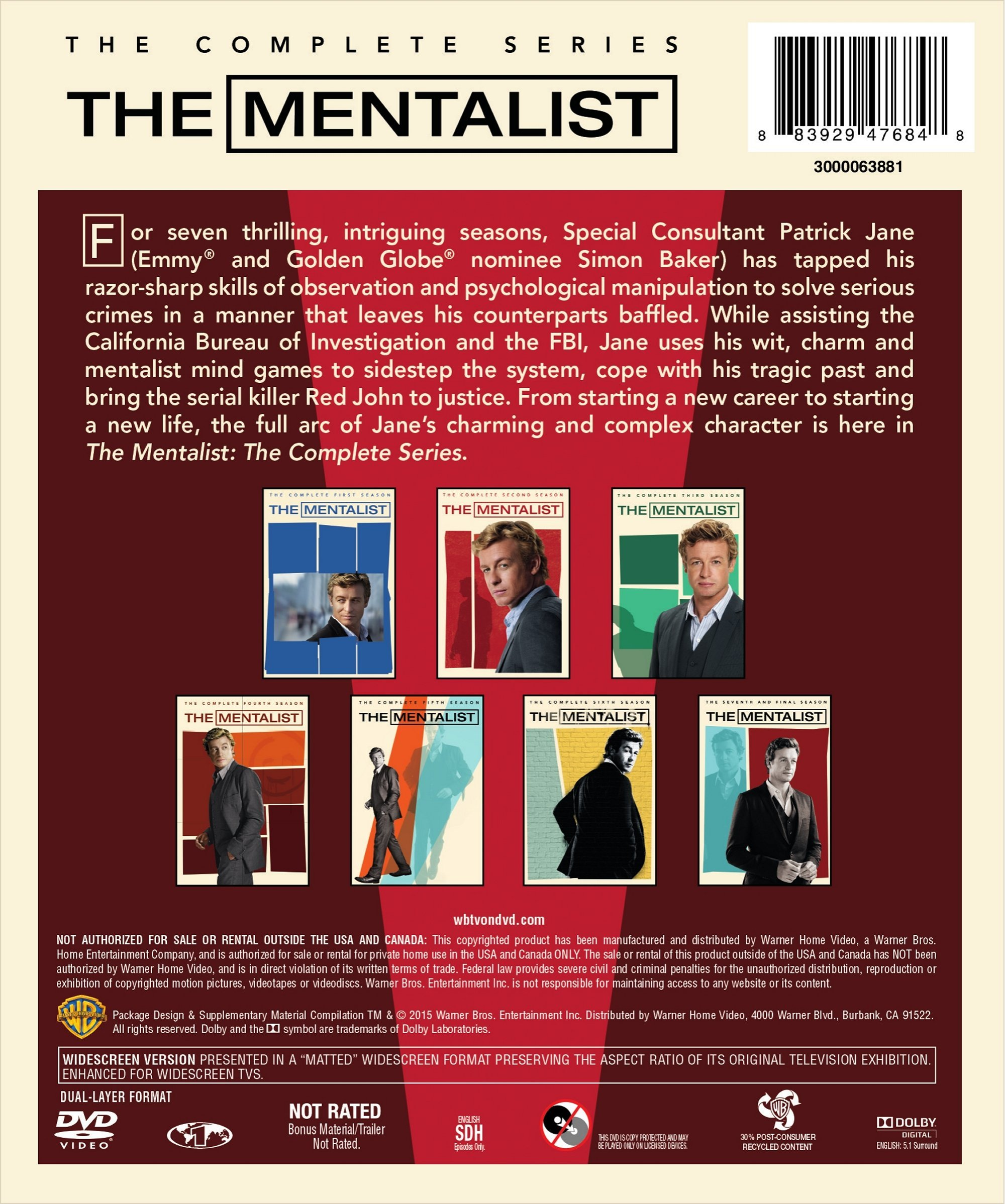 The Mentalist: The Complete Series by Warner Manufacturing