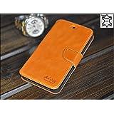 Original Akira Hand Made [Echt Leder] Handyhülle Nexus 5 Cover Handgemacht Case Schutzhülle Etui Flip Wallet Pen [DEUTSCHER FACHHANDEL] Braun
