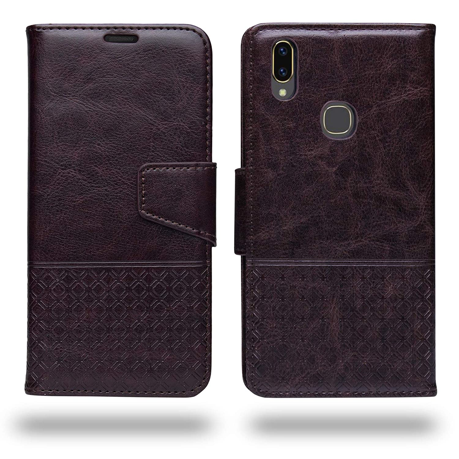 buy online 0b9aa 1f13a Ceego Vivo V9 / Vivo V9 Youth Flip Cover - Luxuria Compact Flip Case for  Vivo V9 / V9 Youth [with Credit Card Slot] (Chestnut Brown)