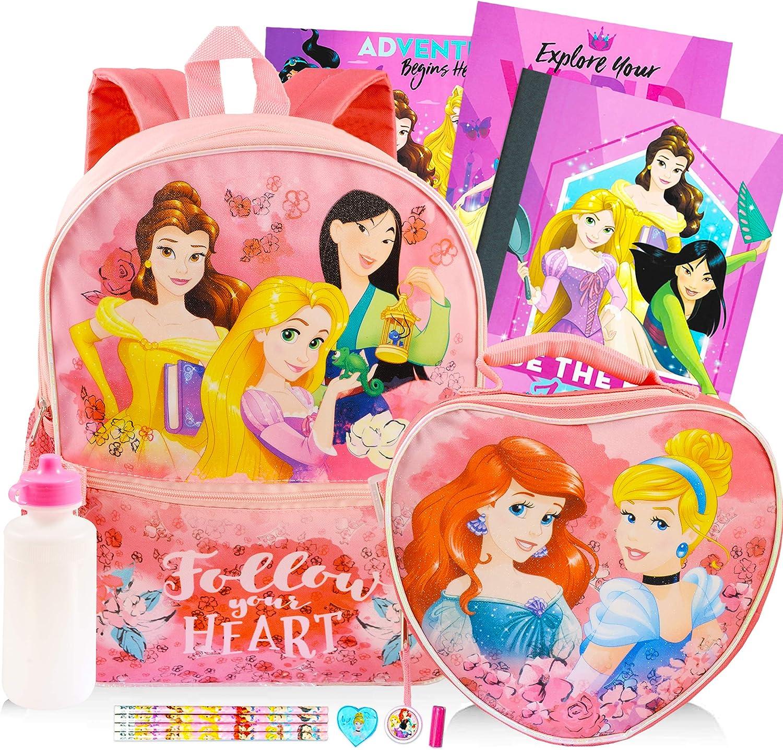 Disney Princess School Supplies 14-Piece Bundle for Kids ~ Deluxe 16