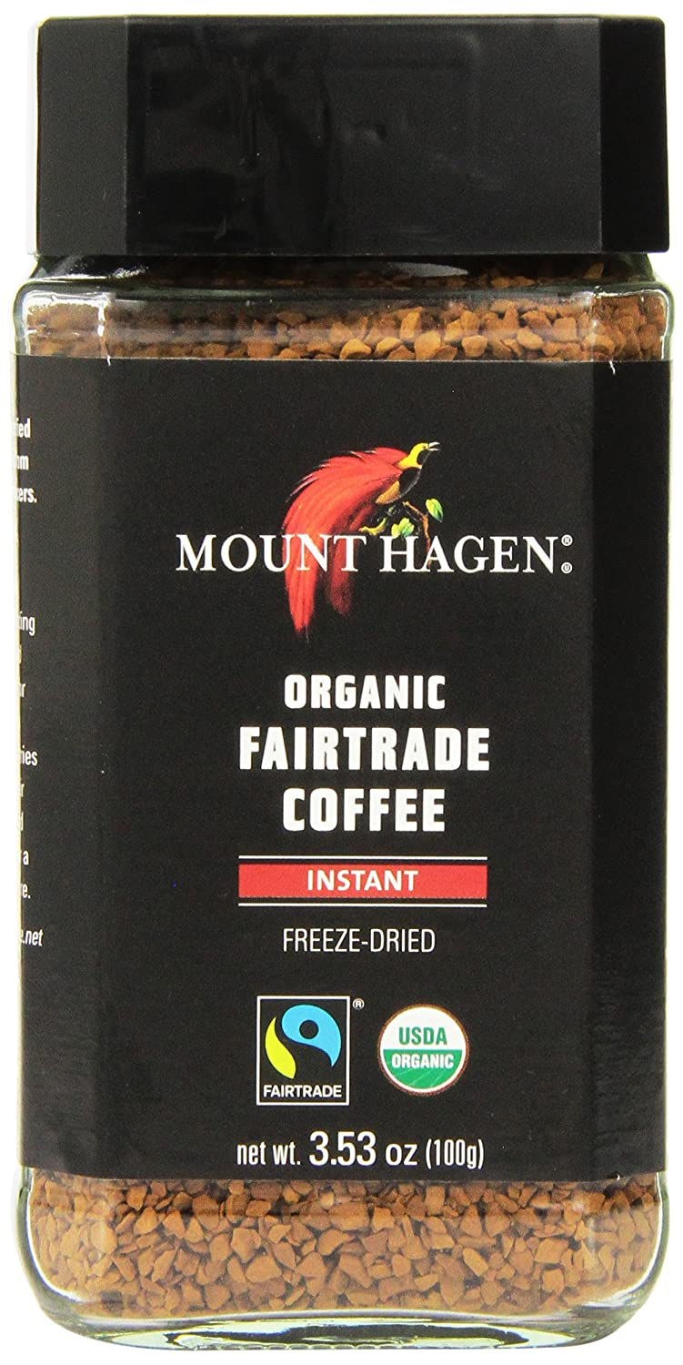 Mount Hagen Freeze Dried Instant Coffee- 3.53 Oz Jars- 2 Pack TRTAZ11A