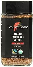 Mount Hagen Freeze Dried Instant Coffee- 3.53 Oz Jars- 2 Pack