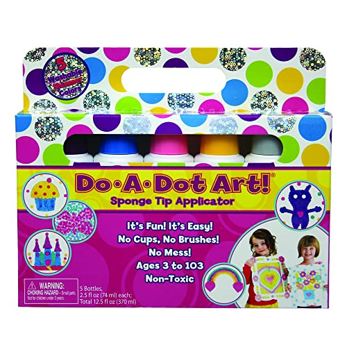 Do A Dot Art! Markers 5 Pack Shimmer Washable Paint Markers The Original Dot Marker