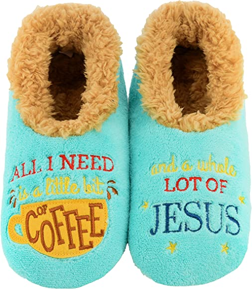 Snoozies Pairables Womens Slippers But First Coffee House Slippers