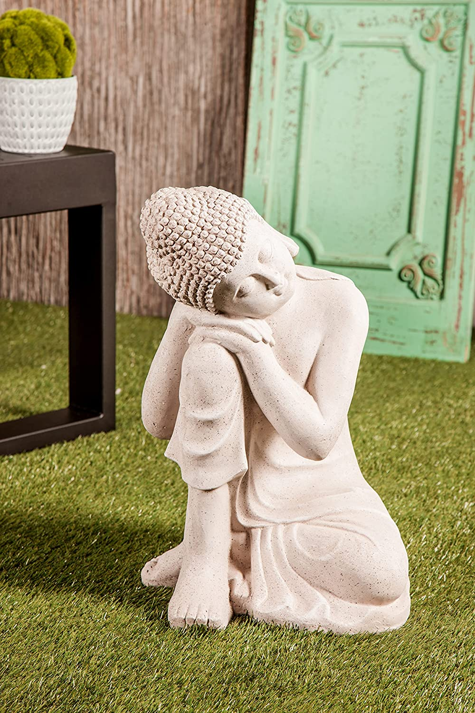 Deco 79 36744 Resting Buddha Sculpture, 13