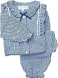 187103 子どもパジャマ チェック柄 サッカー素材 綿100%【春物・夏物】林間学校用にも
