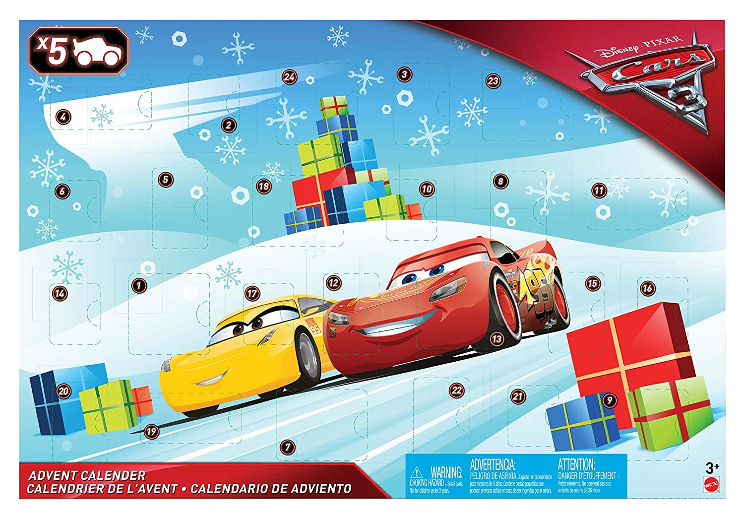 Disney Cars FGV14 Cars 3 Advent Calendar Mattel