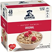 48-Pack Quaker Instant Oatmeal Original 0.98-Oz Packets
