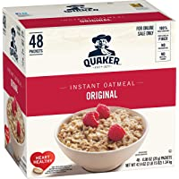 48-Count Quaker Original 0.98 oz Packets Instant Oatmeal