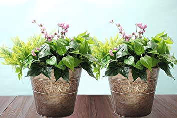 Amazon.com : Flower pots Planters 13 Inch Set 2, outdoor and ...