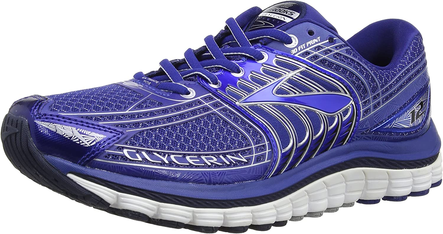 Brooks Men s Glycerin 12, Sodalite Methyl Blue Silver, 11 D – Medium