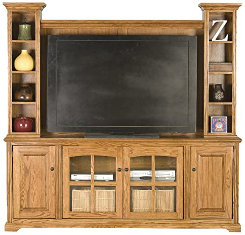 Eagle Thin Entertainment Console, 80 , Light Oak Finish
