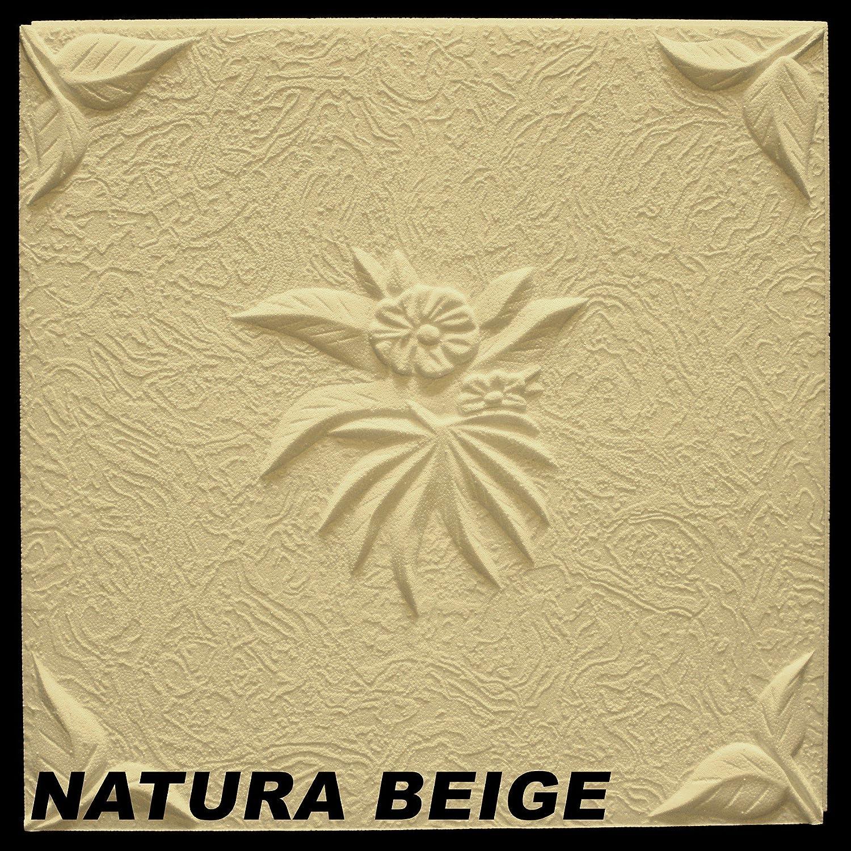 30 m2 decorazione pannelli piastre soffitto Copriradiatore 50 x 50 cm, natura Beige Marbet Design