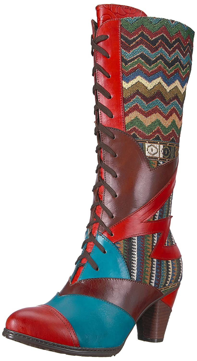 L'Artiste by Spring Step Women's Malag Boot B01EGTQ6B2 38 EU/7.5 - 8 M US|Orange/Multi