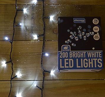 Bright Led Christmas Lights.Kingfisher Procl200w 200 Bright White Static Led Christmas Lights Transparent 0 50x18x3 30 Cm