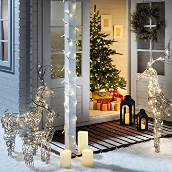 Weihnachtsbeleuchtung Figuren Led.3er Set Led Rentier Figuren Weihnachtsbeleuchtung Außen