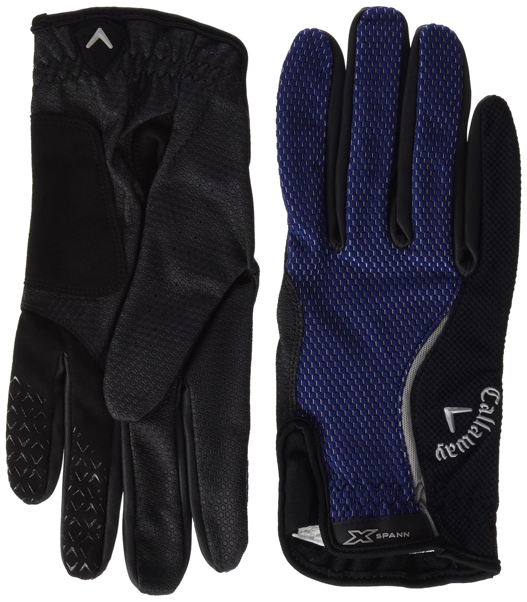 Callaway 2015 X-Spann All-Weather Performance Mens Compression Fit Golf Gloves-Pair Black XL