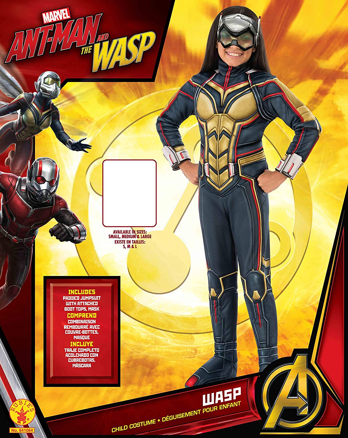 Amazon.com: Rubies Ant-Man Girls Deluxe Wasp Costume, Small: Toys & Games