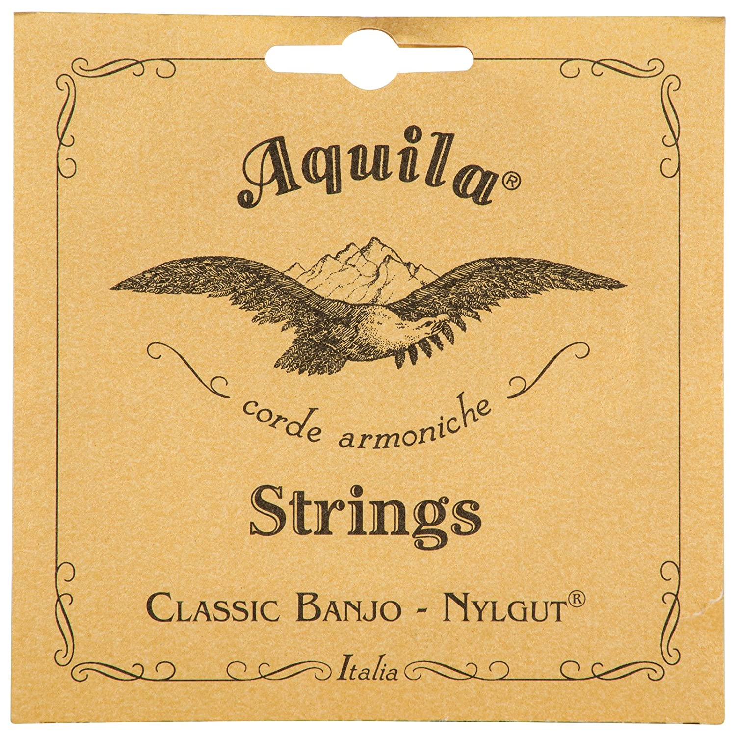 Aquila AQ-6B New Nylgut Banjo Strings Medium Tension DBGDG Set of 5 Saga Musical Instruments CA