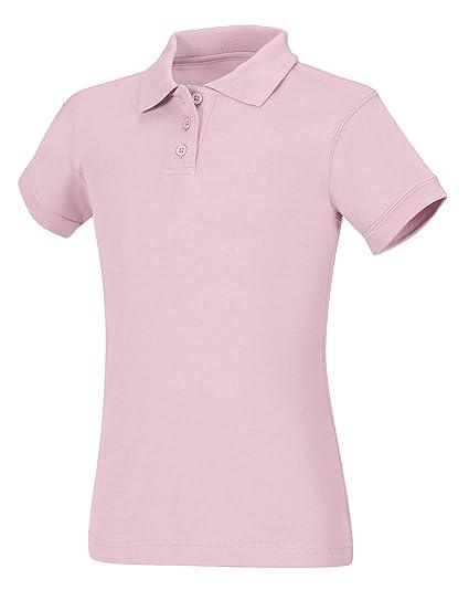 7a61ff51 Amazon.com: CLASSROOM Big Girls' Interlock Cap Sleeve Polo, Pink, Large:  School Uniform Polo Shirts: Clothing