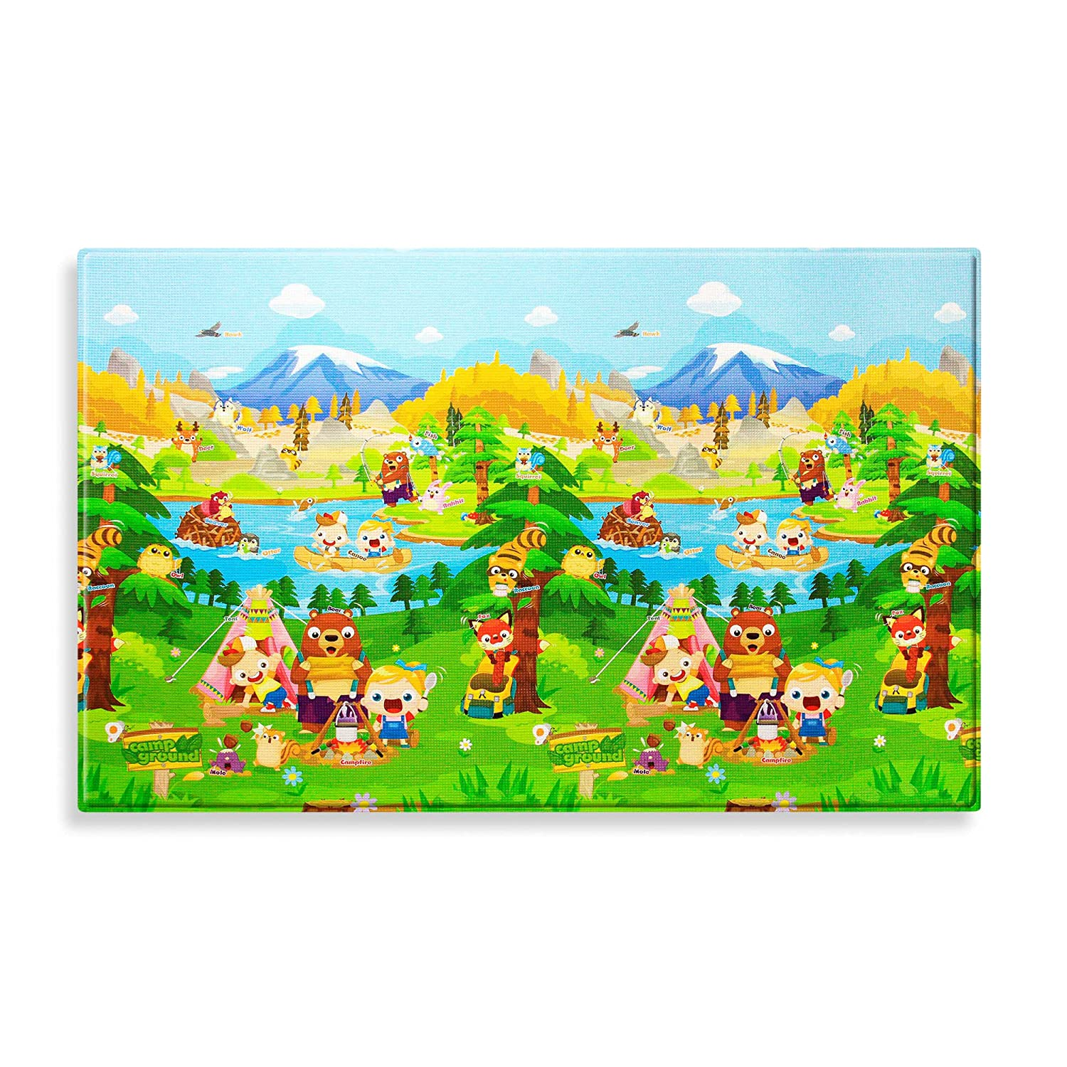 amazoncom baby care large baby play mat in let's go camping  - amazoncom baby care large baby play mat in let's go camping toys  games