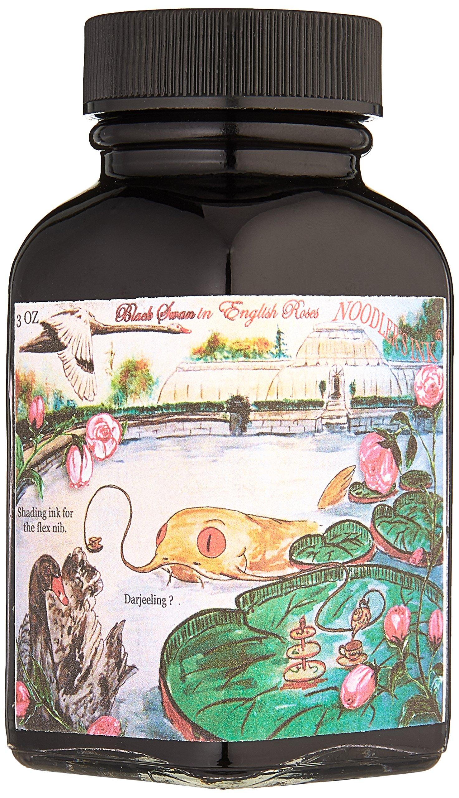 Noodlers Ink 3Oz Black Swan In English Roses